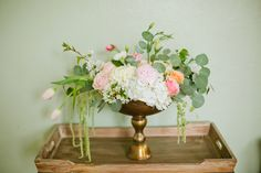 floral centerpiece recipe by Blossom Sweet on Utah Bride Blog. Lindsey Orton Photography