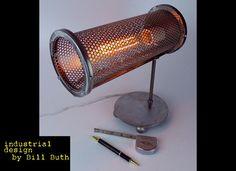 Industrial Handmade 'Ziggy' Steampunk Table Lamp Art by BillieBoi