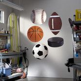 Found it at Wayfair - Assorted Sports Ball Wall Decal