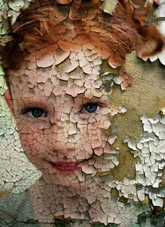 Timeskin niña - digital collage