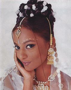 East Indian style upswept hair