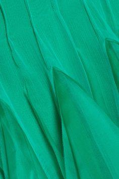 Ruffled silk-chiffon and organza dress