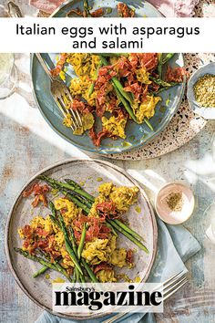 This Italian scrambled eggs recipe with salami and asparagus is a great breakfast or brunch idea but can also be served as a light supper. Get the Sainsbury's magazine recipe Italian Eggs, Magazine Recipe, Midweek Meals, Egg Dish, Asparagus Recipe, How To Make Breakfast, Scrambled Eggs, Light Recipes, Quick Easy Meals