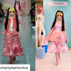"""Re-create a catwalk look through second hand shopping: """"@charityfashionlive are recreating #LFW looks using only 2nd-hand clothing. Head to your nearest charity shop or thrift store for guilt-free fashion for a fraction of the price."""""""