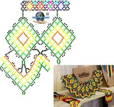 Beaded Necklace Patterns, Necklace Designs, Bead Loom Patterns, Beading Patterns, Beading Tutorials, Loom Beading, Collars, Diy And Crafts, Jewlery