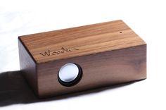 bocina de madera hecho en mexico por la marca independiente wooden. | imagen,wooden