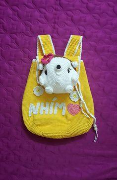 Back Bag, Coin Purse, Crochet Hats, Wallet, Purses, Christmas Ornaments, Holiday Decor, Bags, Knitting Hats