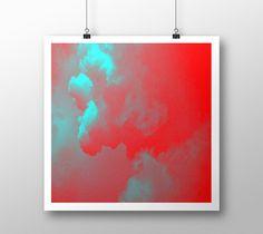 "Art print ""Sky red turquoise"" by eliso ignacio silva simancas"