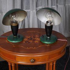 """Leilão de Design (Candeeiros e Iluminação) - Cat Unkown designer - Zwei Tischlampen """"Pilze"""" Original UDSSR/CCCP Ver traduzidoawiki"""