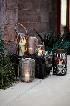 When designing your backyard, don't forget to carefully plan your lighting as well. Get great ideas for your backyard oasis here with our landscape lighting design ideas. Modern Landscape Lighting, Contemporary Outdoor Lighting, Outdoor Sconce Lighting, Landscape Design, Lighting Ideas, Modern Lanterns, Metal Lanterns, Garden Lanterns, Ideas