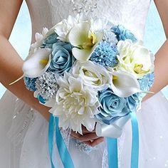 Cheap silk hair flower, Buy Quality silk flowers in vase directly from China silk flower supplies Suppliers: Colorful Bridal Bouquets 2016 Artificial Wedding Flower Hand Bouquets Calla Silk Bouquet De Mariage Bridal Brooch Bouquet, Silk Wedding Bouquets, Beach Wedding Flowers, Beach Wedding Decorations, Bridesmaid Flowers, Bride Bouquets, Bridal Flowers, Flower Bouquet Wedding, Rose Wedding