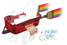 "The Rainbow Wagon that ran on songs from the movie, ""Inside Out."" This was designed to fit around a child's wheelchair."