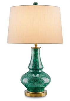 Currey & Co.  Green Lamp.  Table lamp.