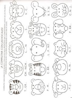 animal heads pattern Can be used for felt projects