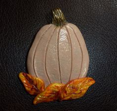 Frosty Pumpkin Pin  by artsdaughter on Etsy