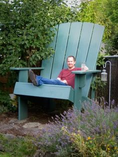 I know it's ridiculous, but I want one, or two. Oversized Adirondack chair DIY.