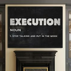 """Execution"" Inspirational Canvas Art by PosterMMe"