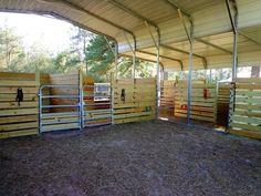 carport barn inside