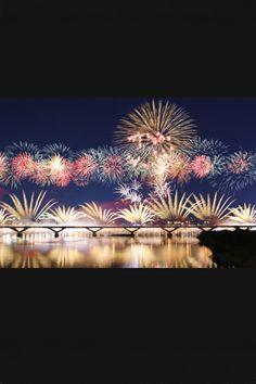 花火 fireworks, Japan