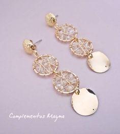 Evil Eye Drop Earrings with Eyelash Fringe - evil eye earrings / statement earrings / fringe earrings / dangle earrings / gifts for her - Fine Jewelry Ideas Gold Bar Earrings, Gold Earrings Designs, Diy Earrings, Bridal Earrings, Earrings Handmade, Stylish Jewelry, Modern Jewelry, Metal Jewelry, Fashion Jewelry