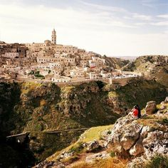 Carved out of a limestone gorge, the millenia-old town of Matera, Italy, is a favorite of film directors and one of Europe's secret hot spots. Photo courtesy of katinaphoto on Instagram.