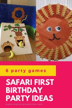 Check out 6 awesome party games and activities ideas for a safari theme first birthday party. Loads of fun crafts and activities for the best jungle or zoo party ever! Kids Party Games Indoor, Toddler Party Games, Birthday Party Games For Kids, Fun Party Games, Kids Party Themes, First Birthday Parties, First Birthdays, Party Ideas, 9th Birthday