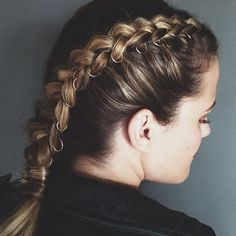 Rad Or Bad: Braid Piercings #refinery29  http://www.refinery29.com/braid-piercings#slide2  This was spotted on the Instagram of hairstylist Kristin Ess — a surprisingly edgy departure from her signature pretty styles. The braid is pierced with silver hoops all along the sides, which feels like a nod to cartilage piercings.