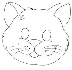 cat mask coloring page Printable Animal Masks, Cat Mask, Safari Theme, Felt Patterns, Cat Crafts, Felt Animals, Mask For Kids, Preschool Activities, Puppets
