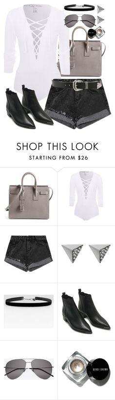 """Untitled #393"" by inspirene ❤ liked on Polyvore featuring Yves Saint Laurent, NLY Trend, Ileana Makri, Acne Studios, Bobbi Brown Cosmetics and B-Low the Belt"