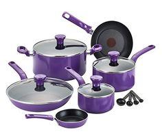 T-fal C970SE Excite Nonstick Dishwasher Safe / Oven Safe PFOA Free Cookware Set, 14-Piece, Purple, http://www.amazon.com/dp/B00KHTP9S2/ref=cm_sw_r_pi_awdl_Iz87ub0WKW1DA