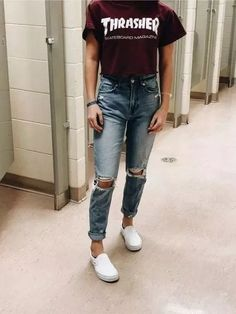 trendy outfits for school * trendy outfits . trendy outfits for school . trendy outfits for summer . trendy outfits for women . trendy outfits for fall . Skater Girl Outfits, Teenage Girl Outfits, Teen Fashion Outfits, Teenager Outfits, Mode Outfits, Fashion Ideas, Fashion Fashion, Teenage Clothing, Trendy Clothing