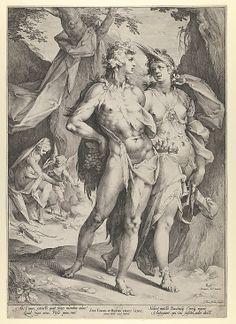 Bacchus, Ceres, and Venus - Jan Muller ; Artist: Bartholomeus Spranger