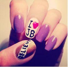 Nail Art #JustinBieber #Believe #I❤JB
