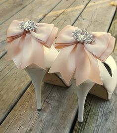 White Wedding Shoe ClipsBridal Shoe Clips MANY COLORS