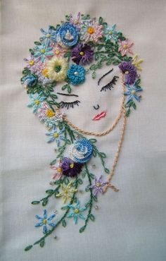 embroidery beautifully done, Brazilian Dimensional Embroidery