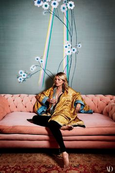 A collaboration with English wallpaper house de Gournay—just unveiled in her London home—proves Kate Moss's design sense extends well beyond the wardrobe