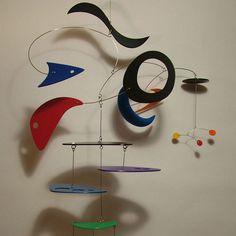 Colorful HiRise Original Modern Retro Hanging by frithmobiles Mobile Sculpture, Sculpture Art, Sculptures, Sculpture Ideas, Mobile Art, Hanging Mobile, Art Certificate, Kinetic Art, Modern Retro