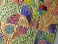 Contemporary Circle Art Quilt  Wall Hanging by MoonDanceTextiles, $79.00