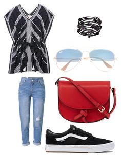 """""""Bunch!!!!"""" by ksoper2951 on Polyvore featuring WithChic, Stella & Dot, Vans, KC Jagger, 1928 and Ray-Ban"""
