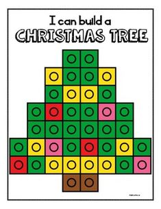 Christmas Snap Cube Mats Christmas Snap Cube Mats are a hands on and engaging activity for students. Christmas Worksheets, Christmas Math, Christmas Activities For Kids, Preschool Christmas, Noel Christmas, Christmas Themes, Preschool Activities, Christmas Crafts, Xmas