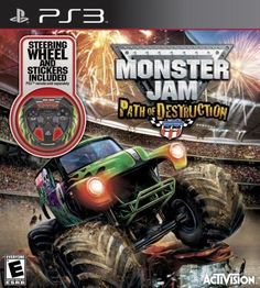 Monster Jam: Path of Destruction with Custom Wheel - PlayStation