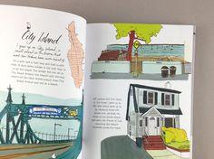 Julia Rothman's book Hello NY! is a half guidebook, half memoir about her love, the Big Apple. #illustration #art