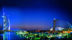 Dubai at night! What a beautiful place! That huge building that looks like a sail is the Burj Al Arab Hotel. The worlds only 10 Star hotel, which is amazing! Call United Military Travel to finance your stay at the Burj Al Arab at 866-582-9579! Apply online for your easy military hotel loan at https://www.unitedmilitarytravel.com/main/