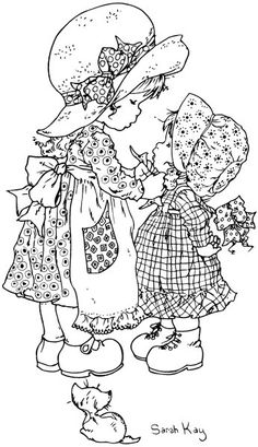 Cute coloring pages Sarah Kay Holly Hobbie Holly Hobbie, Sarah Key, Coloring Book Pages, Digi Stamps, Embroidery Patterns, Illustration, Drawings, Hobby Lobby, Hobby Room