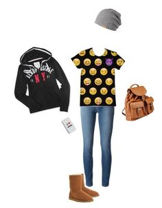 """Casual"" by hjpnosser ❤ liked on Polyvore featuring J Brand, UGG Australia, Aéropostale, Doucal's, Barts and Echo"