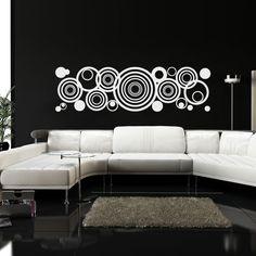 Foto principal de Adesivo de Parede Abstrato de Círculos e Bolas