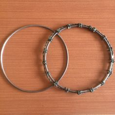 Djembe drum rings ready to go on