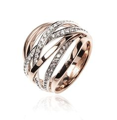 Rose gold diamonds ring - I like multiple bands, but not quite this many