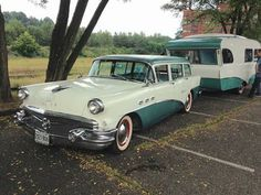 Beautiful Buick car and camper