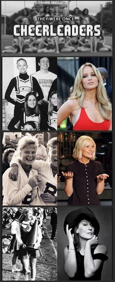 Famous people who were once cheerleaders...